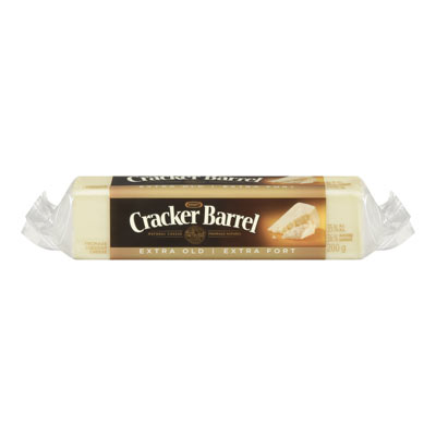 CRACKER BARREL 200 GR NATURAL CHEESE-BARS EXTRA OLD CHEDDAR WHITE EACH