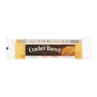 CRACKER BARREL 200 GR NATURAL CHEESE-BARS LIGHT OLD CHEDDAR COLORED     1 WRAPPER EACH