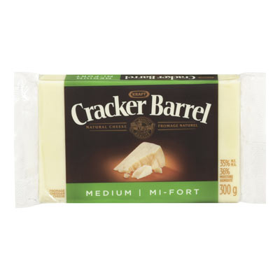 CRACKER BARREL Fromage Cheddar mi-fort blanc 300�g