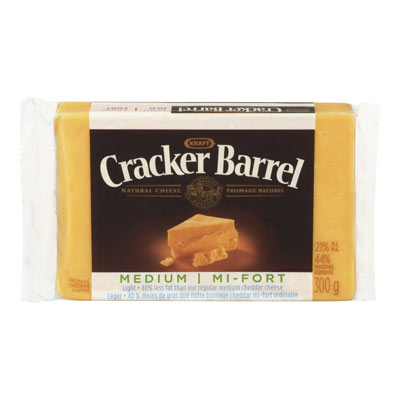 CRACKER BARREL Fromage Cheddar mi-fort l�ger 300�g