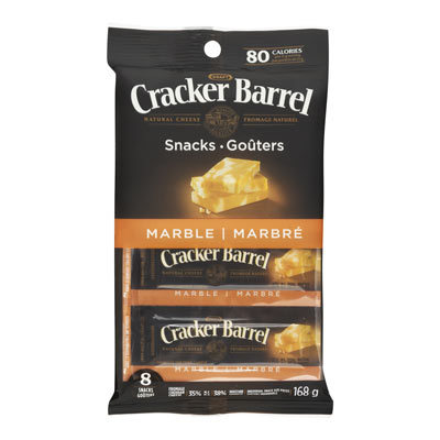 CRACKER BARREL Marble Cheddar Cheese Snacks