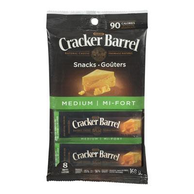 CRACKER BARREL Medium Cheddar Cheese Snacks
