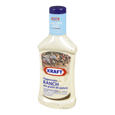 KRAFT CALORIE WISE Vinaigrette Ranch aux grains de poivre