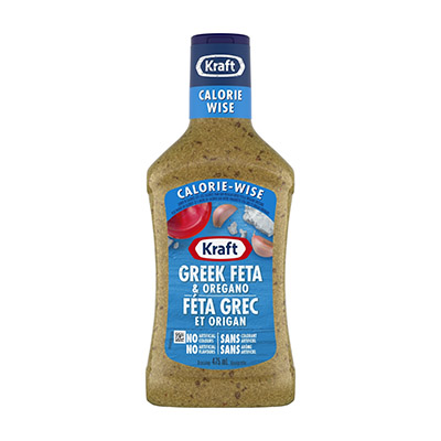 KRAFT SIGNATURE DRESSING-LIQUID CALORIE WISE GREEK FETA AND OREGANO