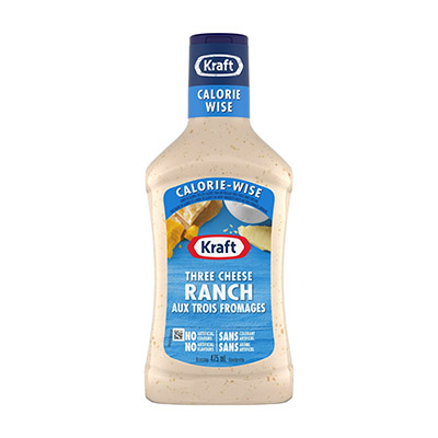 KRAFT CALORIE-WISE Vinaigrette Ranch aux trois fromages