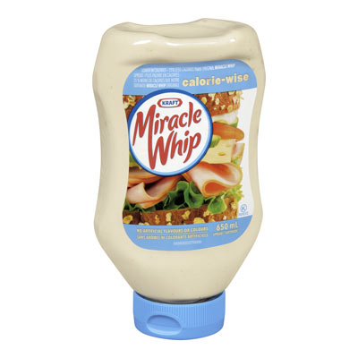 MIRACLE WHIP CALORIE-WISE BOUTEILLE PRESSABLE