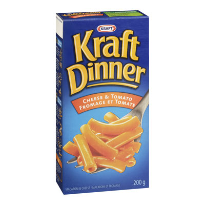 KRAFT DINNER Cheese & Tomato Macaroni & Cheese,