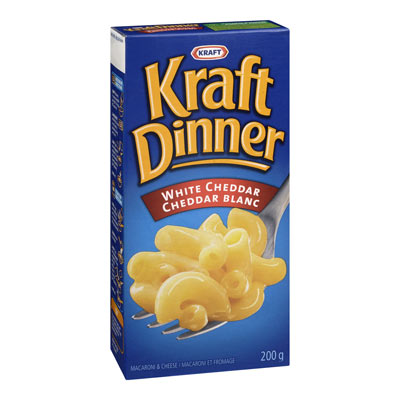KRAFT DINNER White Cheddar Macaroni & Cheese,