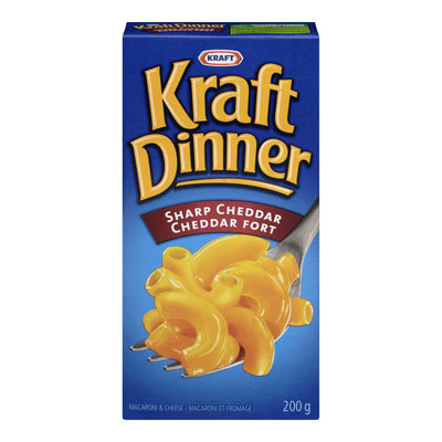 KRAFT DINNER Sharp Cheddar Macaroni & Cheese,