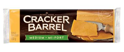 CRACKER BARREL Goûters de fromage Cheddar mi-fort léger