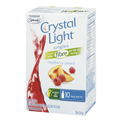 CRYSTAL LIGHT Singles La Raspberry Peach