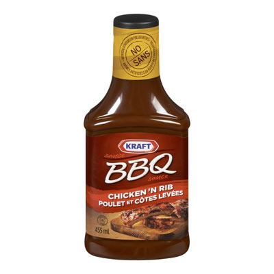 KRAFT Sauce BBQ Poulet et côtes levées