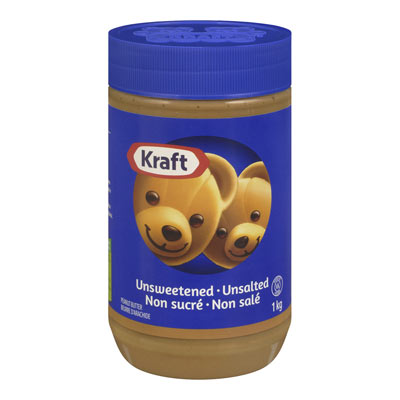 KRAFT Unsweetened Unsalted Peanut Butter