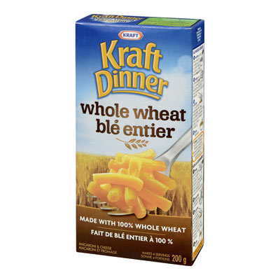 KRAFT DINNER Whole Wheat Original Macaroni & Cheese,