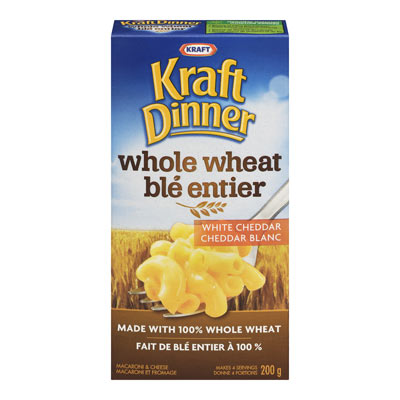 KRAFT DINNER Whole Wheat White Cheddar Macaroni & Cheese,