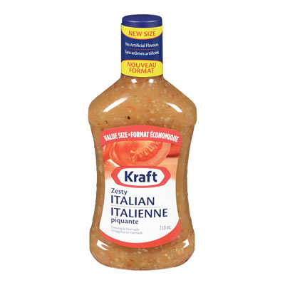 KRAFT 710 ML DRESSING-LIQUID  ZESTY ITALIAN