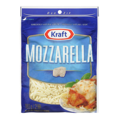KRAFT 180 GR NATURAL CHEESE-SHREDS  MOZZARELLA     1  EACH