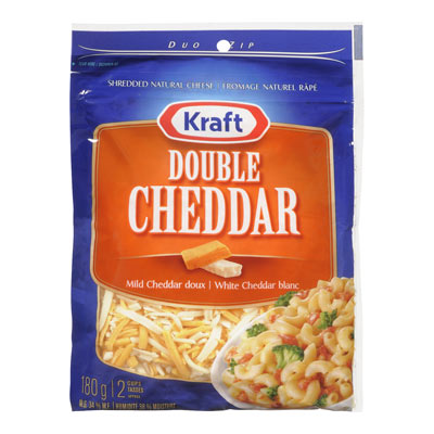 KRAFT 180 GR NATURAL CHEESE-SHREDS  DOUBLE CHEDDAR     1  EACH