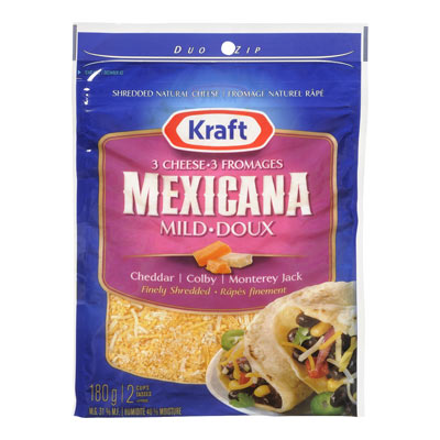 KRAFT 180 GR NATURAL CHEESE-SHREDS  3-CHEESE MEXICANA     1  EACH
