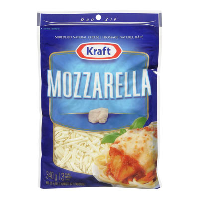KRAFT 340 GR NATURAL CHEESE-SHREDS  MOZZARELLA     1  EACH