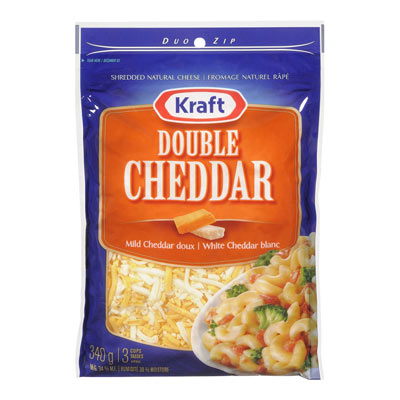 KRAFT 340 GR NATURAL CHEESE-SHREDS  DOUBLE CHEDDAR     1  EACH