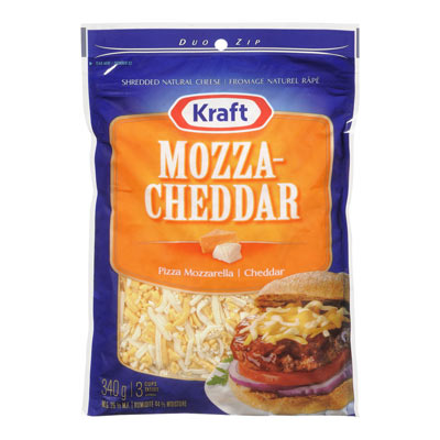 KRAFT Fromage Mozza-Cheddar r�p� 340�g