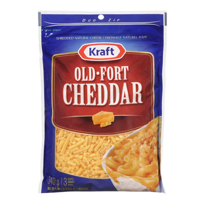 KRAFT 340 GR NATURAL CHEESE-SHREDS  OLD CHEDDAR     1  EACH