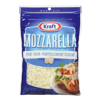KRAFT Part Skim Mozzarella Shredded Cheese