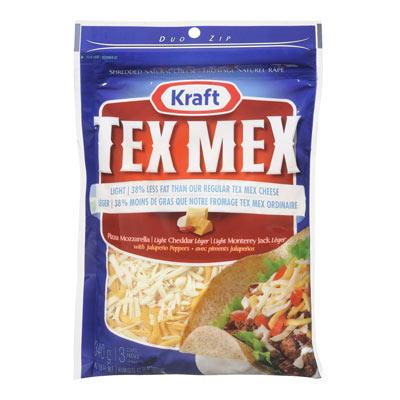 KRAFT Fromage Tex Mex l�ger r�p� 340�g