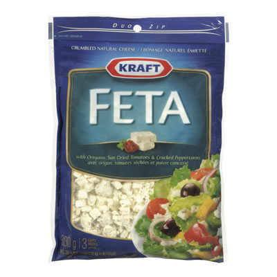 KRAFT 300 GR NATURAL CHEESE-CRUMBLES  FETA     1  EACH