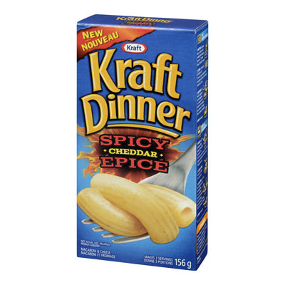 KRAFT DINNER Spicy Cheddar Macaroni & Cheese,