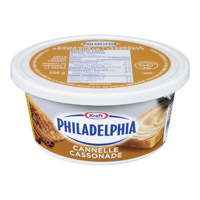 PHILADELPHIA 250 GR CREAM CHEESE  CINNAMON BROWN SUGAR     1 TUB EACH
