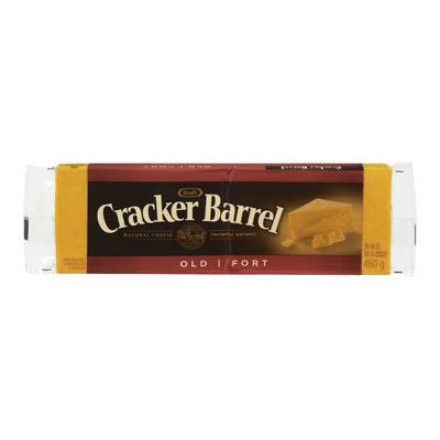 CRACKER BARREL 460 GR NATURAL CHEESE-BARS  OLD CHEDDAR COLORED     1 WRAPPER EACH
