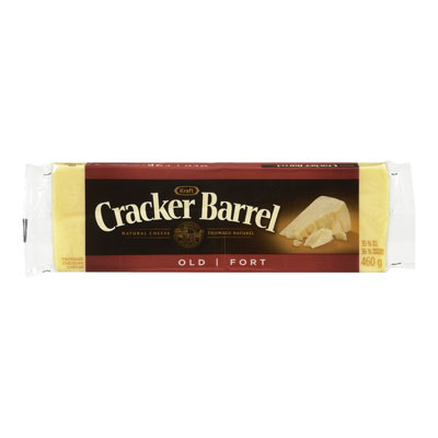 CRACKER BARREL 460 GR NATURAL CHEESE-BARS  OLD CHEDDAR WHITE     1 WRAPPER EACH