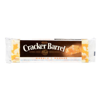CRACKER BARREL 600 GR NATURAL CHEESE-BARS LIGHT MARBLE CHEDDAR     1 WRAPPER EACH