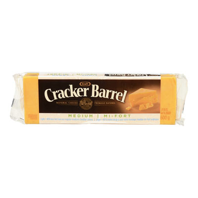 CRACKER BARREL Fromage Cheddar mi-fort léger