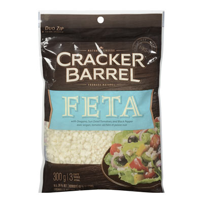 CRACKER BARREL 300 GR NATURAL CHEESE-CRUMBLES  FETA     1 BAG/POUCH EACH