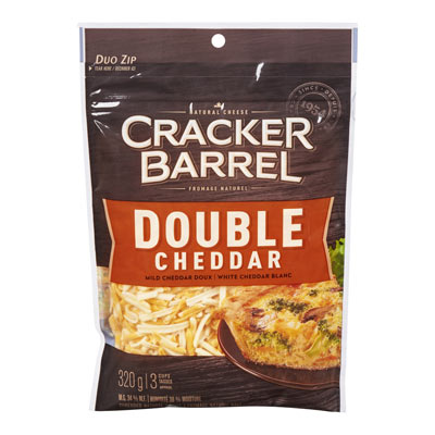 CRACKER BARREL Double Cheddar râpé