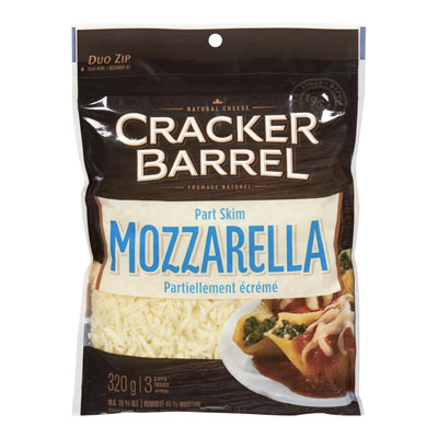 CRACKER BARREL  NATURAL CHEESE-SHREDS  MOZZARELLA PART SKIM