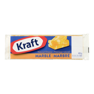 KRAFT  NATURAL CHEESE-BARS  MARBLE CHEDDAR