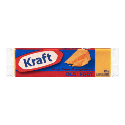 KRAFT  NATURAL CHEESE-BARS  OLD CHEDDAR COLORED