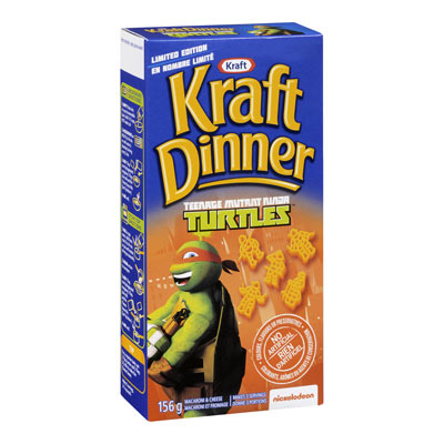 KRAFT DINNER Macaroni et fromage Ninja Turtles
