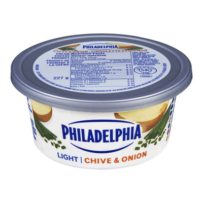 PHILADELPHIA  CREAM CHEESE-SOFT LIGHT CHIVE AND ONION