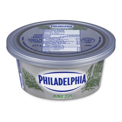 PHILADELPHIA Produit de fromage à la crème Aneth