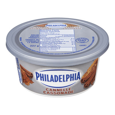 PHILADELPHIA Produit de fromage à la crème Cannelle cassonade