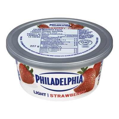 PHILADELPHIA  CREAM CHEESE-SOFT LIGHT STRAWBERRY