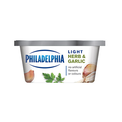 PHILADELPHIA  CREAM CHEESE-SOFT LIGHT HERB AND GARLIC