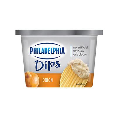 PHILADELPHIA  DIPS CREAM CHEESE-DIP  ONION