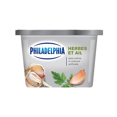 PHILADELPHIA  CREAM CHEESE-SOFT  HERB AND GARLIC