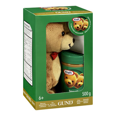 KRAFT 500 GR PEANUT BUTTER  PLUSH BEAR     1 JAR EACH